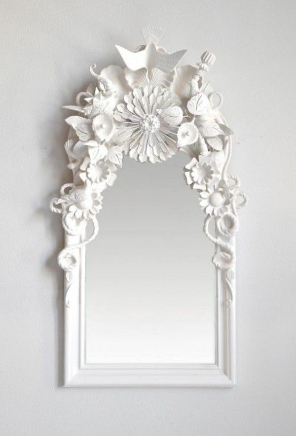 wandspiegel weiß dekorative elemente spiegel