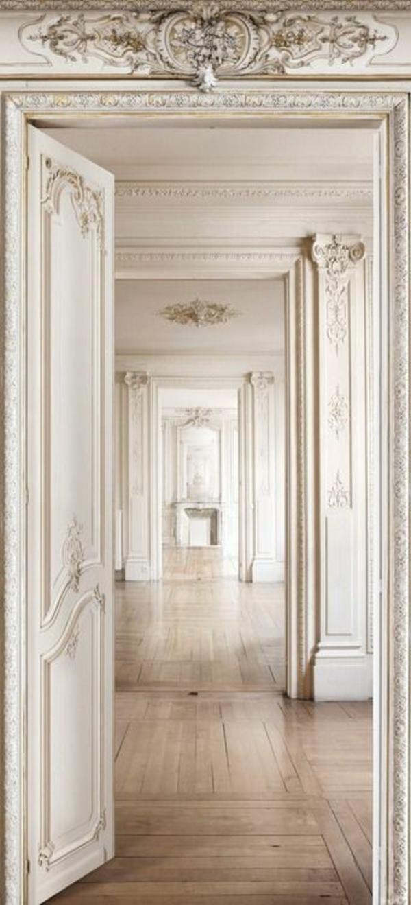 weiße innentüren design ideen dekorative elemente