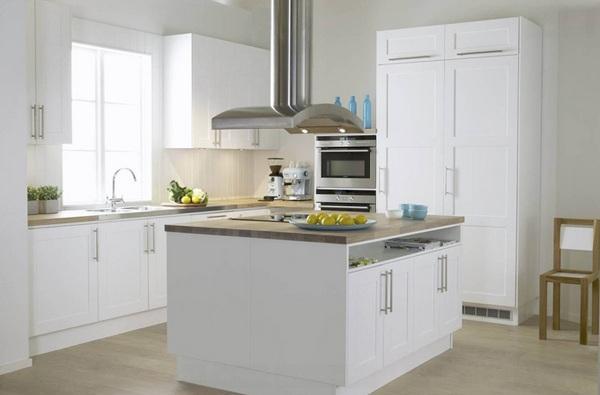 weiße küche minimalistisch einrichten skandinavischer stil