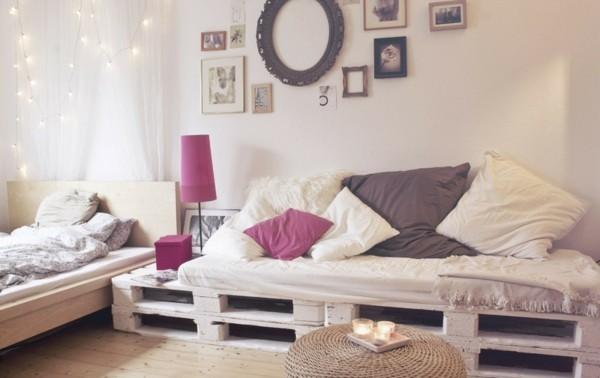 weises palettensofa selber bauen für wohnzimmer