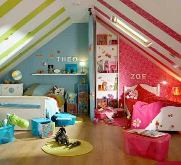 20 komfortable jugendzimmer mit dachschr ge gestalten. Black Bedroom Furniture Sets. Home Design Ideas