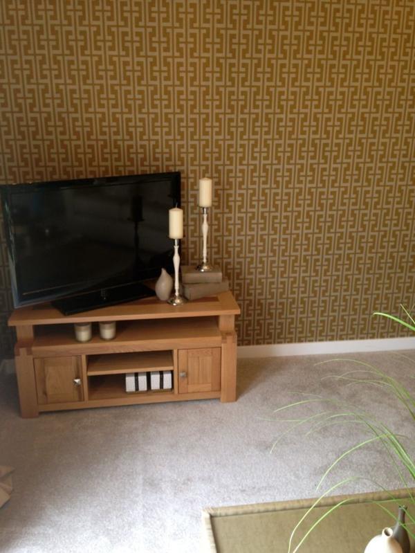 wohnideen wandgestaltung wohnzimmer wohnzimmertapete tv