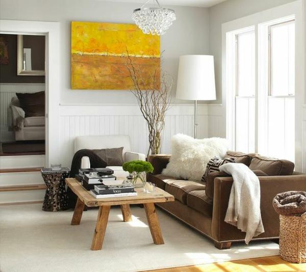 wohnideen wohnzimmer ideen für einrichtung wandart sofa