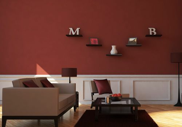 design#5000910: farbgestaltung wohnzimmer streifen, Wohnzimmer dekoo