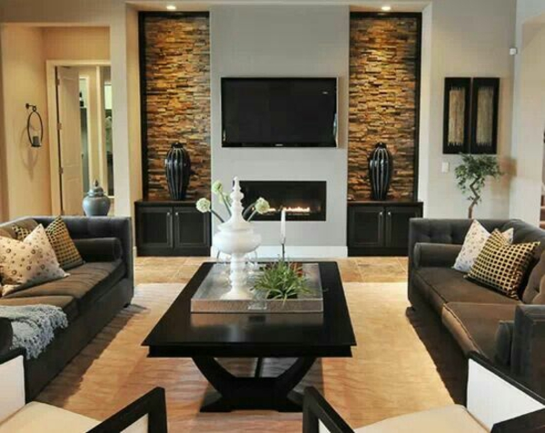 Wohnzimmer Design Ideen Modern Dunkle Farben