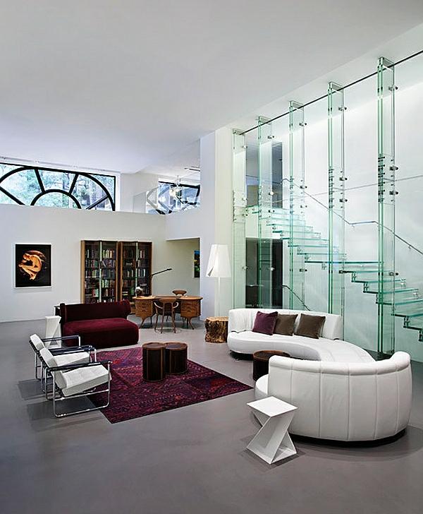 Treppen aus Glas für eine zeitgenössische Erscheinung