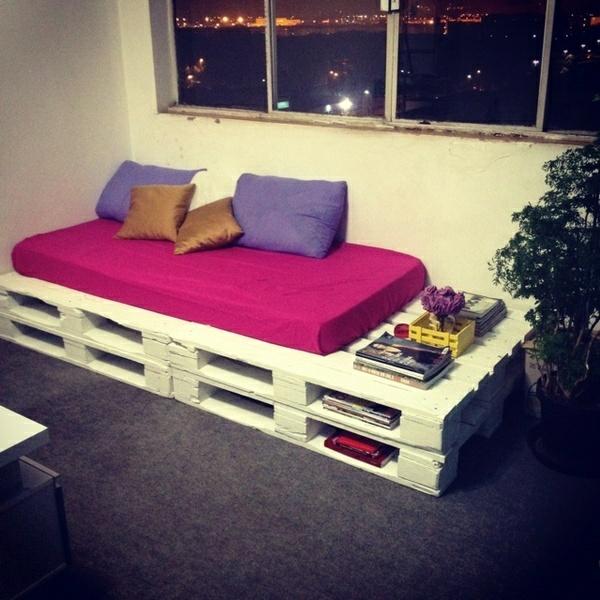 wohnzimmer designideen diy möbel sofa aus paletten lagerraum
