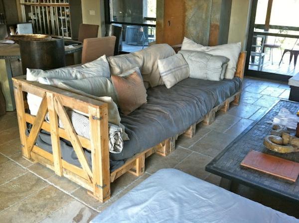 wohnzimmer designideen diy möbel sofa aus paletten