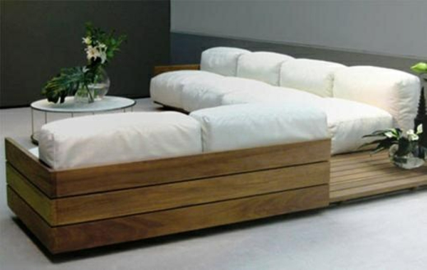 paletten sofa wohnzimmer:Wohnzimmer Designideen Modern Diy Möbel Sofa Aus Paletten Weiß