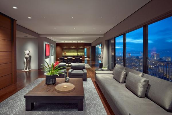 wohnzimmer im asiatischen stil