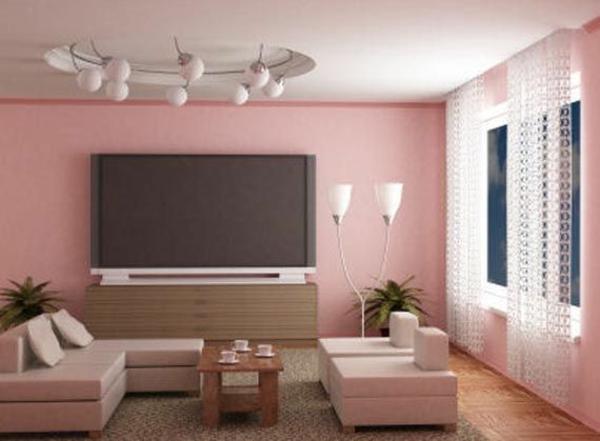 wohnzimmer farbideen - die verschidenen optikeffekte - Rosa Wandfarbe Wohnzimmer