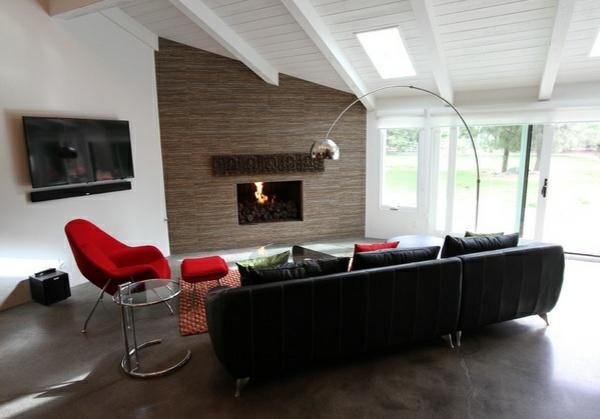 wohnzimmer ideen und designs deko kamin designer möbel