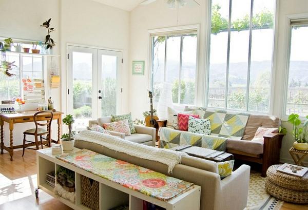 Wohnzimmer ideen landhausstil modern  Wie man einen tollen Charme durch die Landhaus Einrichtung erreicht