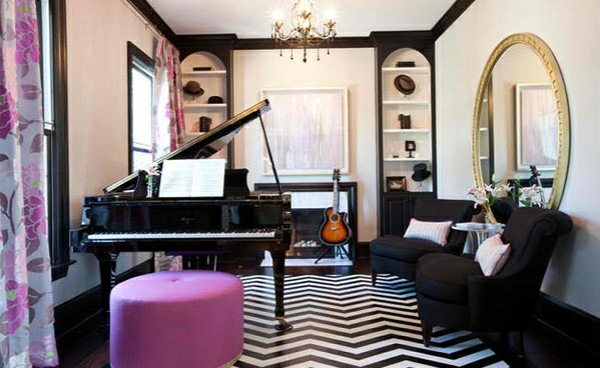 wohnzimmer m bel wenn das klavier dazu z hlt 15 beispiele. Black Bedroom Furniture Sets. Home Design Ideas