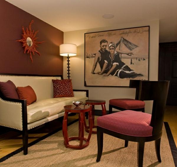 wandfarbe wohnzimmer braun:wohnzimmer wandfarbe braun : wohnideen für ...