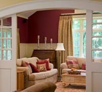 Wohnzimmer Wandfarbe – Wie finden Sie das Kastanienbraun?