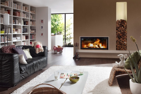 wohnzimmer wandfarbe mocca macchiato schöner wohnen farben trendfarbe
