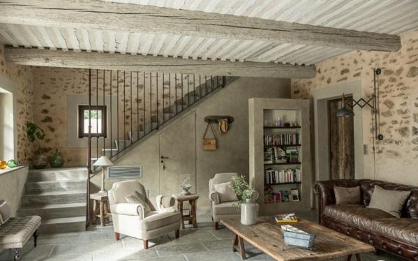 Natursteinwand im Wohnzimmer natursteinwand ideen