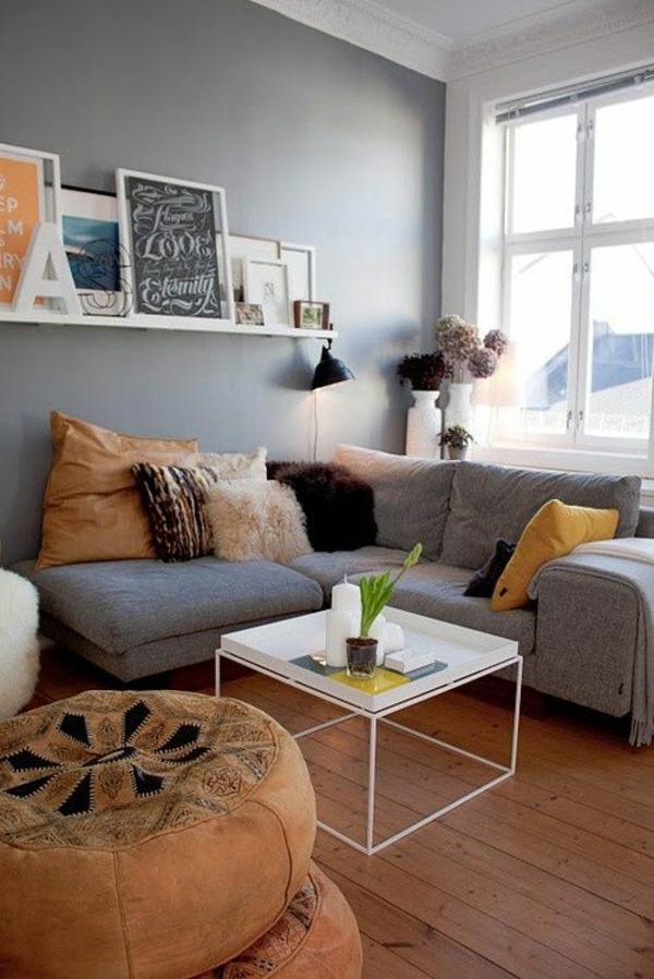 wohnideen wohnzimmer graues sofa ~ raum haus mit interessanten ideen