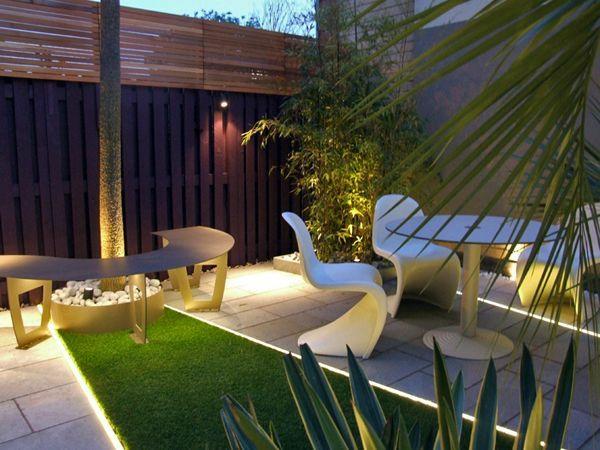 zeitgenössischer garten patio sitzecke gartenmöbel