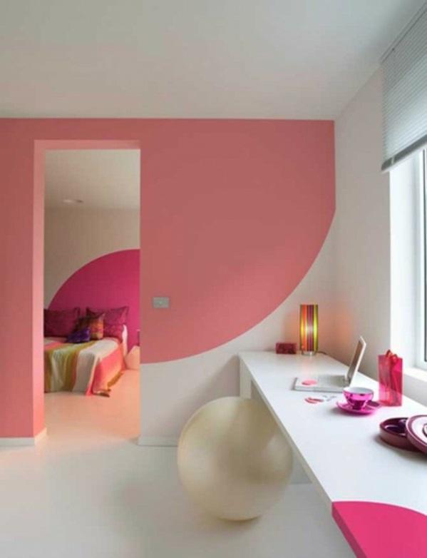 Altrosa Wandfarbe farbgestaltung wände abstrakt weiß