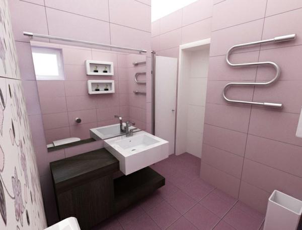 Altrosa Wandfarbe farbgestaltung wände bad desig