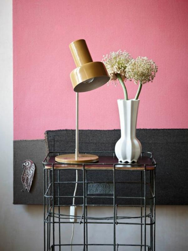 Altrosa Wandfarbe farbgestaltung wände industriell stil