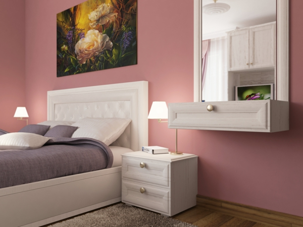 Altrosa als Wandfarbe - frische Farbgestaltung