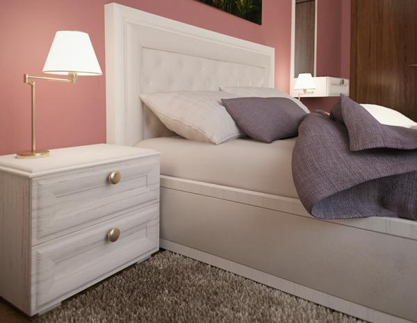 Wandfarbe farbgestaltung wände nachttisch tischlampe