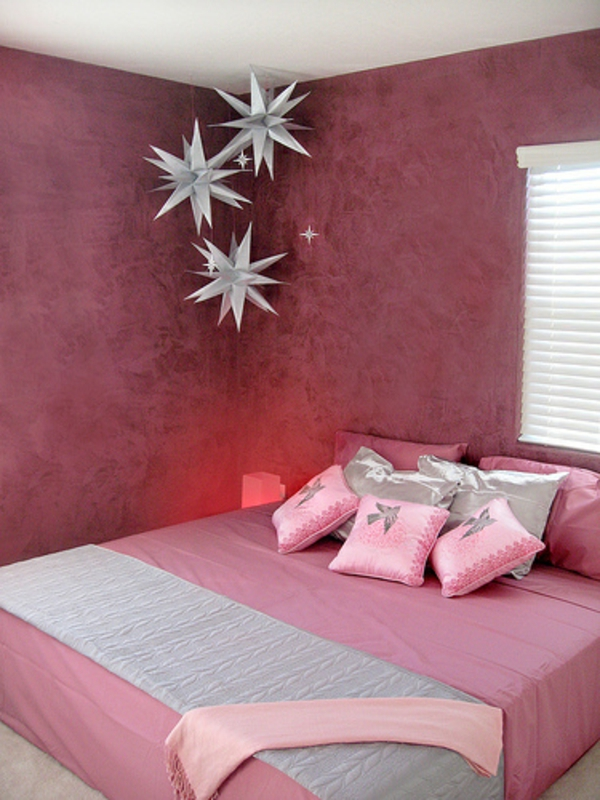 farbgestaltung wände Altrosa als Wandfarbe schlafzimmer ideen