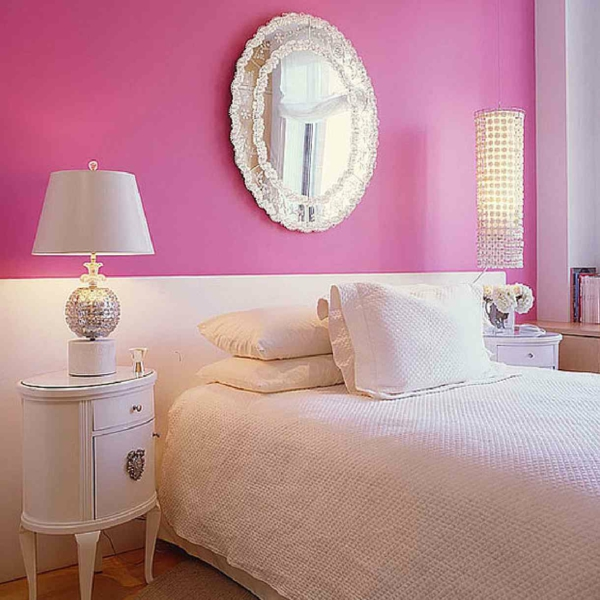 Wandgestaltung Schlafzimmer Altrosa