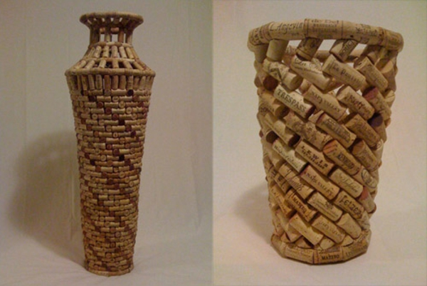 Basteln mit Korken bodenvasen art