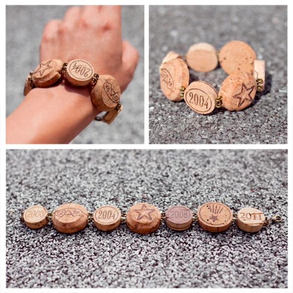 Korken bracelet armband rund basteln