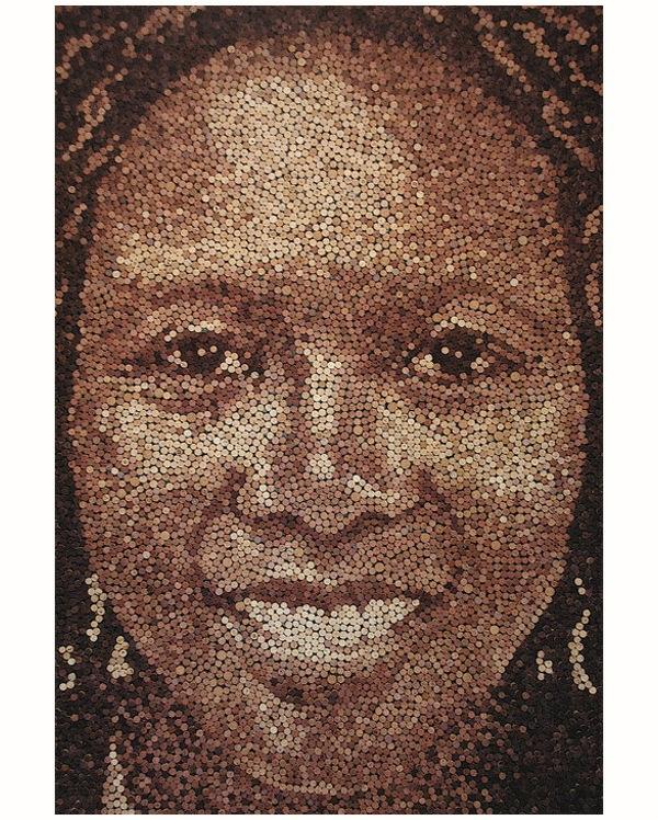 Basteln afro Korken gesicht lächeln