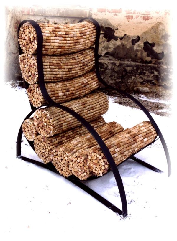 Basteln bündel ergonomisch gartenmöbel set Korken sessel gestell
