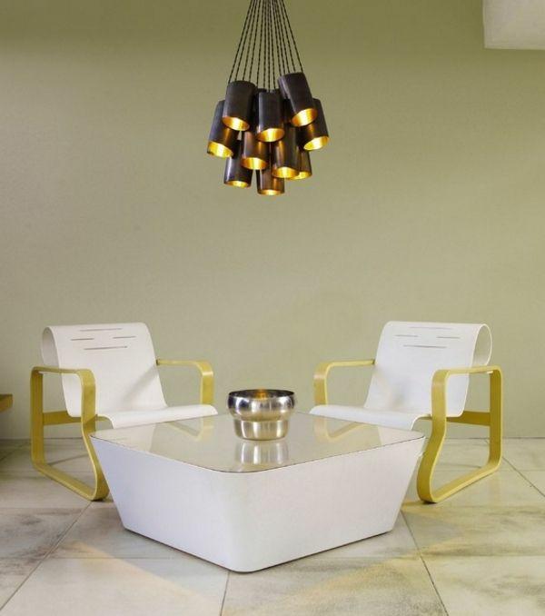 Beleuchtungsideen Wohnzimmer wohnzimmerlampen bündel