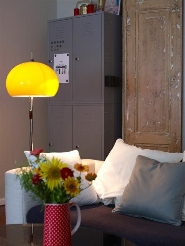 Beleuchtungsideen fürs Wohnzimmer cool wohnzimmerlampen gelb