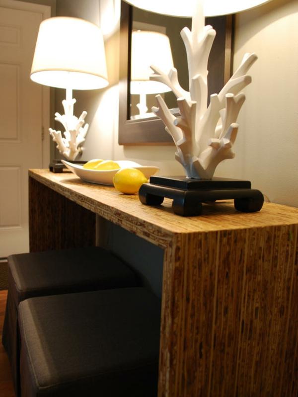 Beleuchtungsideen fürs Wohnzimmer cool wohnzimmerlampen holztisch