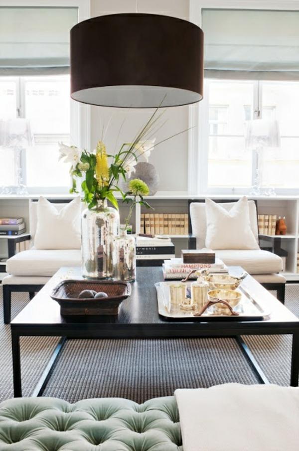 Beleuchtungsideen fürs Wohnzimmer wohnzimmerlampen lampenschirm