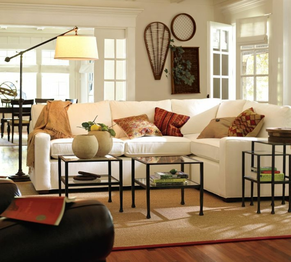 Beleuchtungsideen-fürs-Wohnzimmer-cool-wohnzimmerlampen-teppich