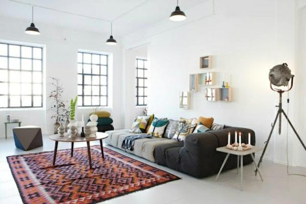 Beleuchtungsideen Wohnzimmer cool wohnzimmerlampen weiß