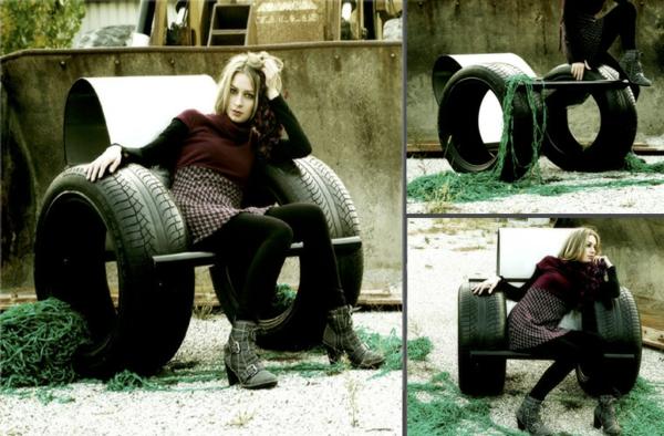 DIY Möbel Autoreifen Autoreifen Recycling Riesig Sessel