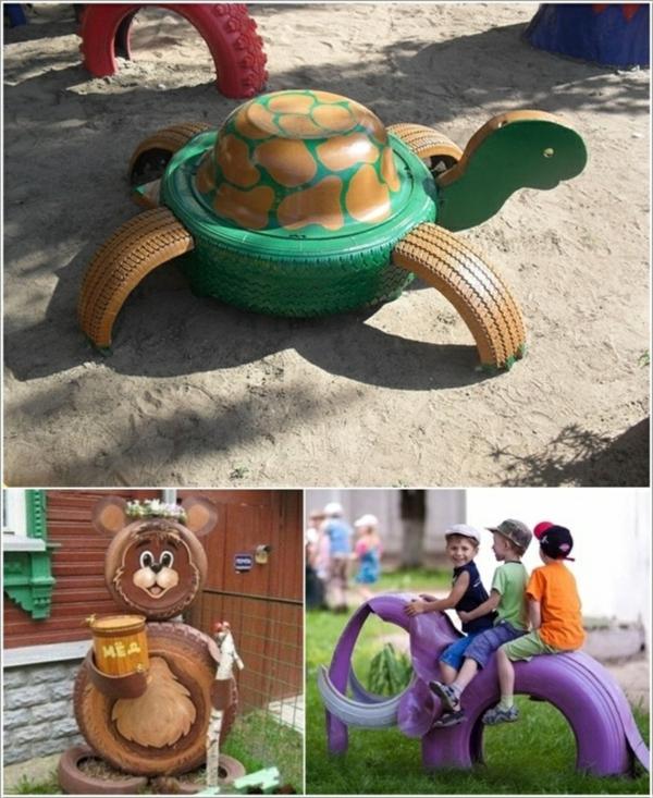 projekte Autoreifen autoreifen recycling schildkröte bär