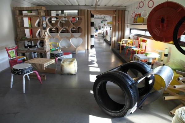 DIY Möbel Autoreifen autoreifen recycling spielzimmer