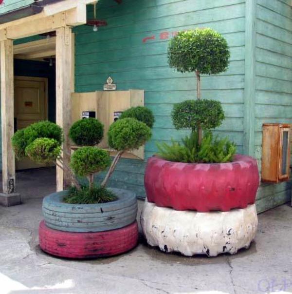 Möbel Aus Autoreifen Autoreifen Recycling Ständer Pflanzen