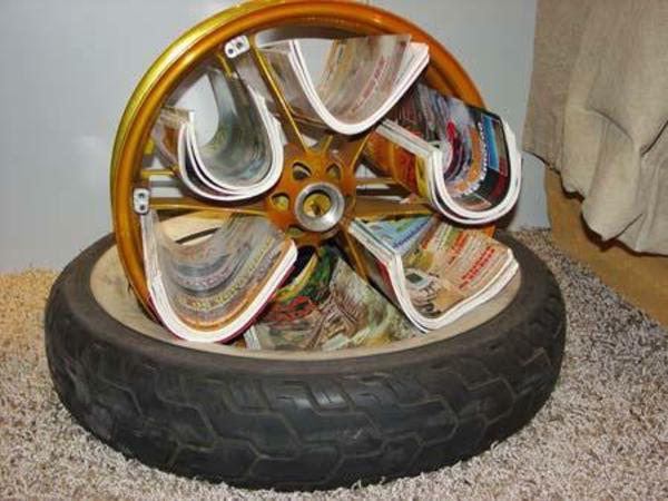 DIY Möbel aus Autoreifen autoreifen recycling zeitschriften