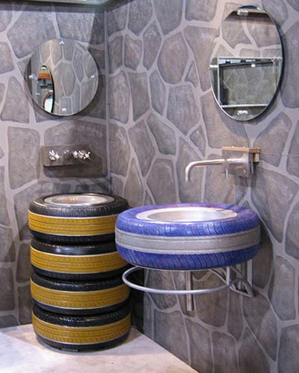 Möbel aus Autoreifen badezimmer waschbecken