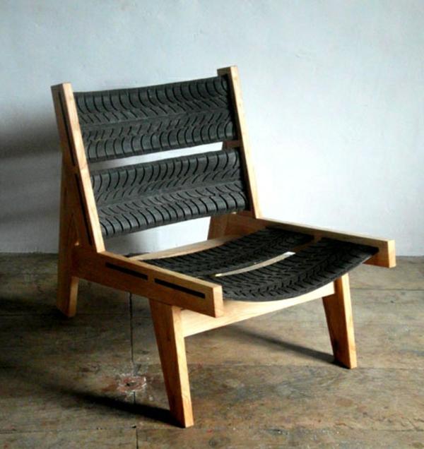 DIY Möbel aus Autoreifen stuhl rückenlehne holz