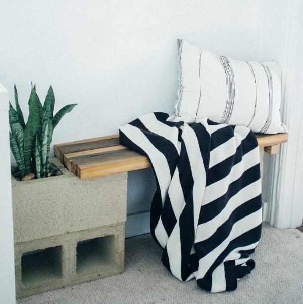 modern betonblock sitzbank lounge garten ideen