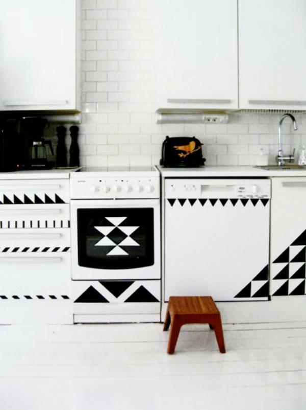DIY wohnideen küchenfronten erneuern klebefolie für möbel